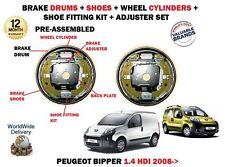 Pour Peugeot Bipper 1.4 HDI 2008- > 2 X Arrière Frein Tambour Chaussures