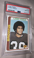 1978 Topps Football #184 Larry PoolePSA 10 GEM Mint POP 23 Rare Grade Browns