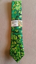 Jerry Garcia Mens Ties of Grateful Dead Heads - St Patrick's Day GREEN LANDSCAPE