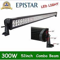 "52"" 300W LED Work Light Bar Spot Flood Combo Beam Fog OffRoad JEEP 4WD SUV FDEL"