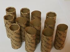 12 Dollar Size Paper Coin Wrappers. Pre-Crimped 1 End Shotgun Rolls $25 Dollars