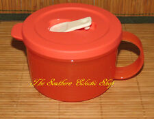 Tupperware CrystalWave Soup Mug 2 Cup Coral Crush / Sugar