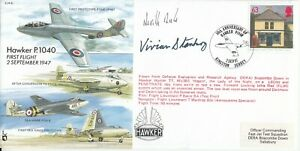 EJA6c Hawker Signed Neville Duke Test Pilot, Battle of Britain  &  J V Stanbury