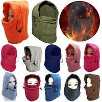 Thermal Motorcycle Fleece Balaclava Neck Winter Ski Full Face Mask Cap Cover Hat