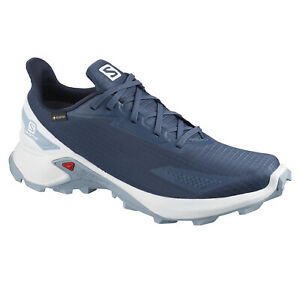 Running Shoes Trainers Men's Shoe Salomon Alphacross Blast GTX, Blue White