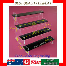 4 Tier shelves Acrylic Perspex display Stand case box for figures, models, Funko