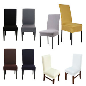 1/4/6pcs Dining Chair Covers Slipcover Spandex Banquet Wedding Party Decor