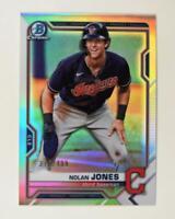 2021 Bowman Prospects Chrome Refractor #BCP-35 Nolan Jones /499 - Indians