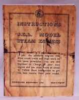 S.E.L. - live steam engines - facsimile operating instruction booklet