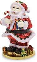 Bejeweled Santa Trinket Box