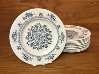 "12 Royal Doulton PLYMOUTH 10 1/2"" Dinner Plates - Excellent"