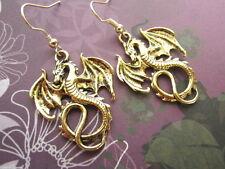 Ohrringe Drache - Ohrhänger Fantasy asia Dragon Vintage Stil Gothic bling bling