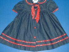 Bonnie Jean Girls Black Short Sleeve Western Bandanna Dress Covered Buttons 2T
