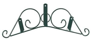 Parisian Hose Holder Hanger 53 cm Green Powder Coated Metal Wall Mount Mounted