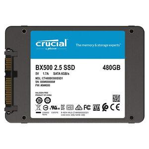 HARD DISK SSD INTERNO CRUCIAL BX500 120GB 240GB 480GB 1TB SOLID STATE 6.0Gb/s