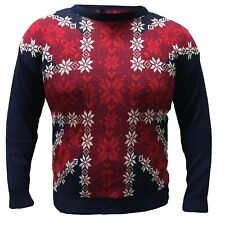 UK Flag Christmas Jumper Union Jack Xmas Novelty Sweater Retro Vintage lot new