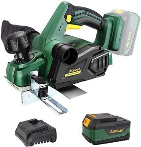 Electric Wood Planer, 18V Cordless Powerful Planer, Electric Hand Planer with 1.