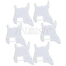 6 Guitar Pickguard One Humbucker For Fender Strat ST Parts Scratch Plate White