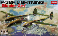 "Academy 1:48 Lockheed P-38F ""Lightning"", ""Glacier Girl"". Kit Nr. 12208."