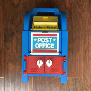 Vintage Fisher-Price 1989 Post Office & Mail Box Center Made in USA