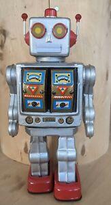 Blechspielzeug grauer Roboter Electron Blechroboter Defekt ohne Funktion