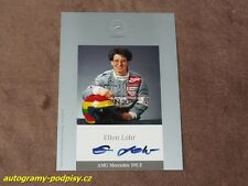 Ellen LOHR - original autogramm, AMG Mercedes 190 E, Karte/card 10x15 cm