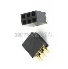 100pcs 2x3pin 6p 254mm Double Row Female Straight Header Pitch Socket Pin Strip