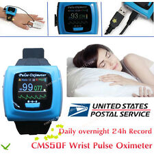CONTEC Wrist Pulse Oximeter, Daily overnight 24h Record, OLED PC SW, FDA  CMS50F