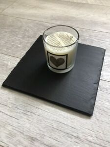 Handmade Slate Trivet Candle Placemat Candle Display Shabby Chic Square 20x20cm