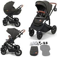 Babylo Traverse 2in1 Pushchair & Carrycot Charcoal + Car Seat Apapters