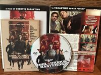 Inglorious Basterds (DVD) Disc VG Brad Pitt Has Booklet And Slip Cover