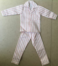 ca.1960's or 1970's Hong Kong Colony KEN DOLL Pajamas, Red & White Striped CLONE