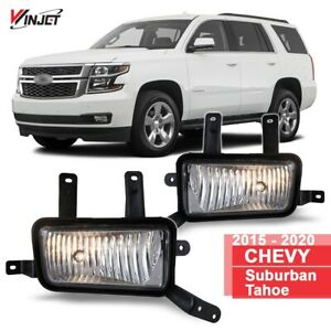 15-20 For Suburban Tahoe Clear Lens Pair OE Fog Light Lamp+Wiring+Switch Kit DOT