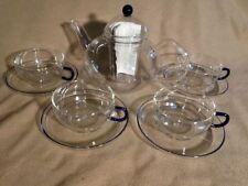 JENAER Glas Teekanne 4 Teegläser Teeglas Glas Tee Kanne