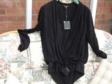 Massimo Dutti Black Viscose Blouse / Top / Shirt  Size L