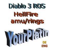 Diablo 3 Boost 40 x höllengeueramulett Hellfire Amulette Season 18