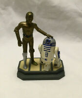 Vintage Star Wars 1997 Applause R2-D2 & C-3PO Figure Cake Topper On Base Stand