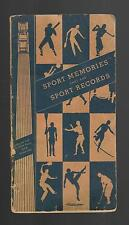 Book by FORD FRICK MLB HOF Baseball old vtg 1931 Sport Memories That Are Records