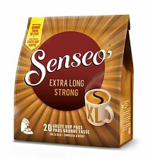 Senseo Strong Dark Roast Mug Size 20 Pods Pads (eqv 40 Cups)