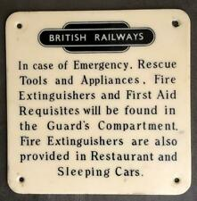 More details for british railway in case of emergency rescue tools and appliances plastic sign