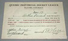 1921-22 Grand-Mere QPL Arthur Rivard Hockey Contract