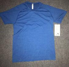 Men's Lululemon Metal Vent Tech Short Sleeve Royal Blue Fitness Yoga Shirt sz M
