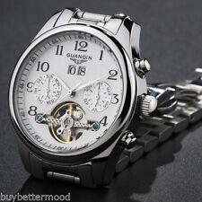 Retro Reloj Automático Mecánico Pulsera Hombre Acero Inoxidable 100m Sumergible