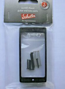 Schaller Humbucker Frame Pickup Ring One Hole 0 7/16in (straight) Black Chrome