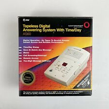 AT&T ATT Tapeless Digital Answering Machine System with Time Day AS60