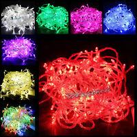 10M 100LED Bulbs Christmas Xmas Fairy Party String Lights Waterproof 110V 220V
