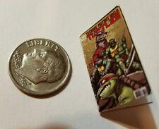 Miniature dollhouse book 1/12  Comic Book Tv show Ninja Turtles  Action Figure C