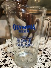 Olympia Beer Pitcher 1972/73 Medium Blue Excellent Condition!