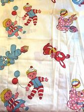 Vtg MCM Cotton Fabric Acadia Co Children Balloon Teddy Bear Duck Horse Rag Doll