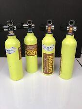 Qty 4 Aluminum Pony Bottles Scuba 6 Cubic Foot Capacity Catalina Cylinders